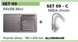 BLANCO SET 09 - C (FAVOS Mini + MIDA chrom) aluminium