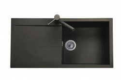 Sinks Sinks AMANDA 990 Metalblack + Sinks MIX 3 P - 74 Metalblack