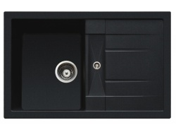 Sinks Sinks CRYSTAL 780 Metalblack + Sinks CAPRI 4 - 74 Metalblack