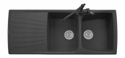 Sinks Sinks MATIS 1184 DUO Metalblack + Sinks MIX 35 - 74 Metalblack