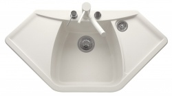 Sinks Sinks NAIKY 980 Milk + Sinks MIX 35 - 28 Milk